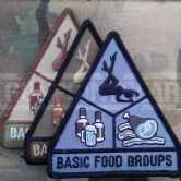 Mil-Spec Monkey Velcro Morale Patch Basic Food Groups